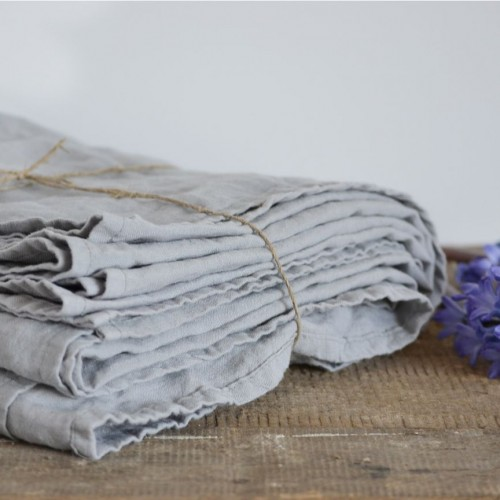 SIMPLE-GREY-LINEN-BED-SHEET